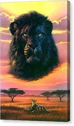 Black Lion Canvas Print by Andrew Farley