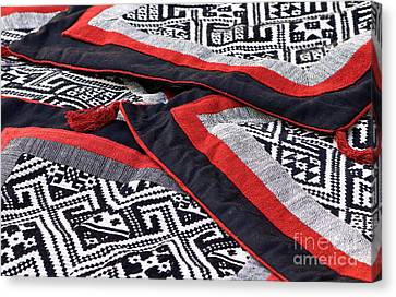 Black Thai Fabric 04 Canvas Print by Rick Piper Photography