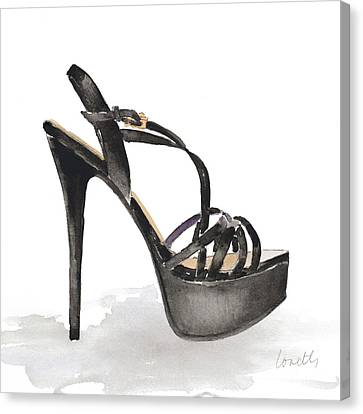 Black Tie Stiletto Canvas Print by Lanie Loreth