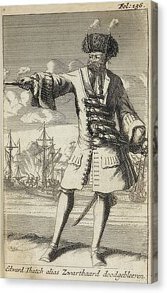 Blackbeard The Pirate Canvas Print by British Library