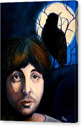 Blackbird Canvas Print by Debi Starr