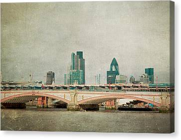 Blackfriars Bridge Canvas Print by Violet Gray