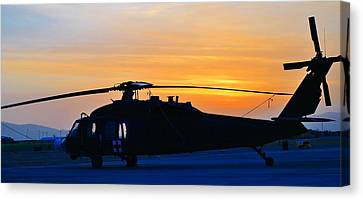 Blackhawk Sunrise Iv Canvas Print by Joshua Burcham