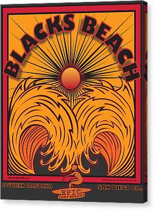 Blacks Beach San Diego California Canvas Print by Larry Butterworth