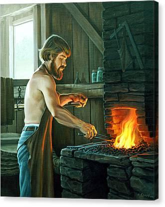 Blacksmith Canvas Print by Paul Krapf