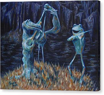 Blackwater Vibrations In The Audubon Swamp Canvas Print by Pamela Poole