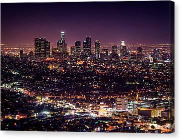 Los Angeles Skyline Canvas Print by Alexis Birkill