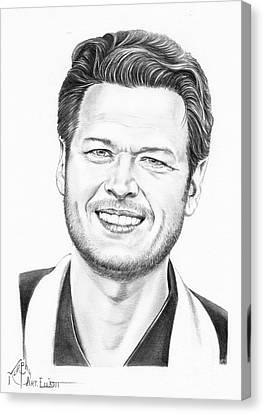 Blake Shelton Canvas Print by Murphy Elliott