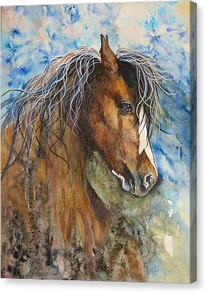 Ghost Riders In The Sky Canvas Print by Kim Whitton