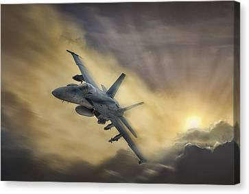 Blazing Hornet Canvas Print by Peter Chilelli