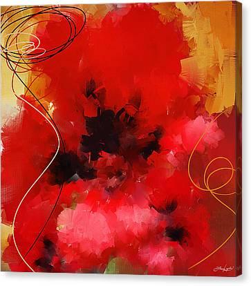 Blazingly Poppies Canvas Print by Lourry Legarde