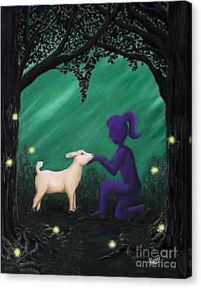 Bleating Heart Canvas Print by Kerri Ertman