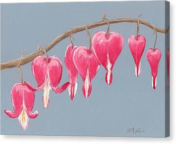 Bleeding Hearts Canvas Print by Anastasiya Malakhova