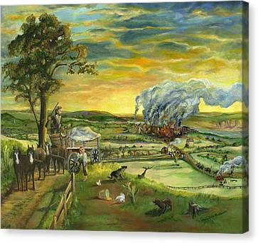 Bleeding Kansas - A Life And Nation Changing Event Canvas Print by Mary Ellen Anderson