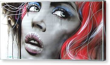 Portrait - ' Bleeding Rose ' Canvas Print by Christian Chapman Art