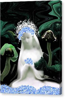 Blessed Mother Mary Canvas Print by Sherri  Of Palm Springs