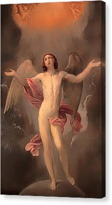 Male Angel Canvas Print featuring the painting Blessed Soul by Mountain Dreams