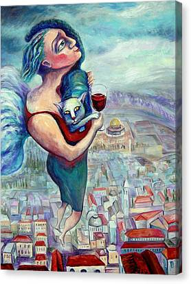 Blessing Over The Wine Canvas Print by Elisheva Nesis