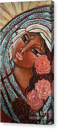 Blessings Of The Magdalene Canvas Print by Maya Telford