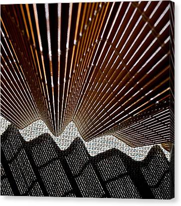 Blind Shadows Abstract I I I Canvas Print by Kirsten Giving