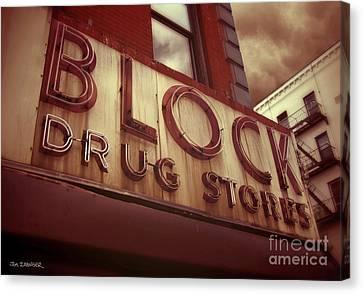 Block Drug Store - New York Canvas Print by Jim Zahniser