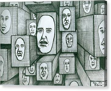 Block Head Canvas Print by Richie Montgomery