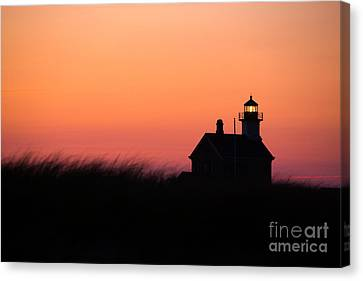 Block Island North Lighthouse Canvas Print by Diane Diederich
