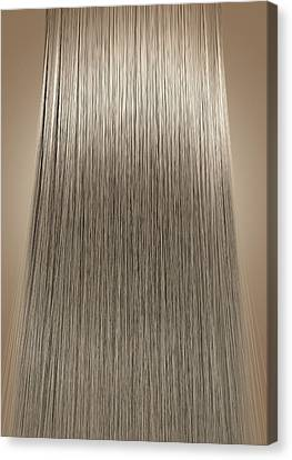 Blonde Hair Perfect Straight Canvas Print by Allan Swart