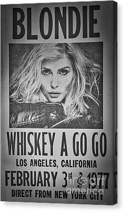 Blondie At The Whiskey A Go Go Canvas Print by Mitch Shindelbower