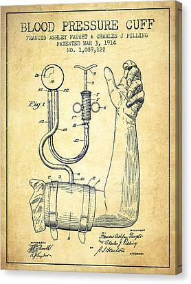 Blood Pressure Cuff Patent From 1914 -vintage Canvas Print by Aged Pixel