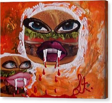 Bloody Meat Canvas Print by Lisa Piper Menkin Stegeman