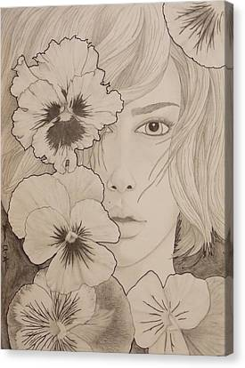 Blooming Girl Pansy Refined Canvas Print by Aaron El-Amin