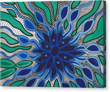 Blooming In Blue Canvas Print by Barbara St Jean