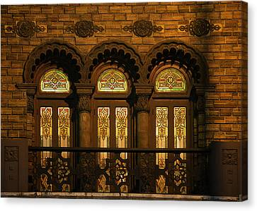 Bloomingdale's At Home In Chicago's Medinah Temple Canvas Print by Christine Till
