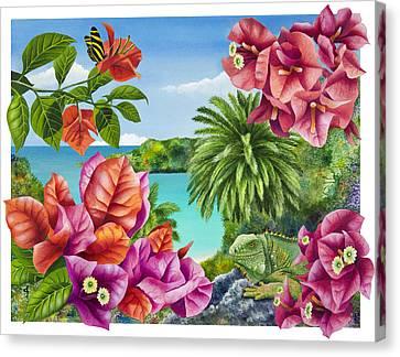 Blossom Bower Canvas Print by Carolyn Steele