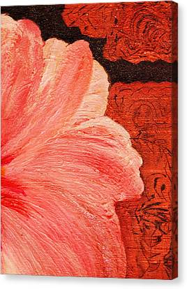 Blossom Emerging Canvas Print by Anne-Elizabeth Whiteway
