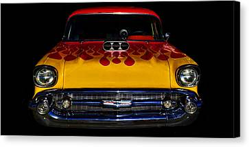 Blown 57 Chevy Canvas Print by Ken Smith