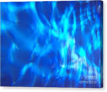 Blue Abstract 2 Canvas Print by Tony Cordoza