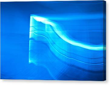 Blue Abstract 3 Canvas Print by Mark Weaver