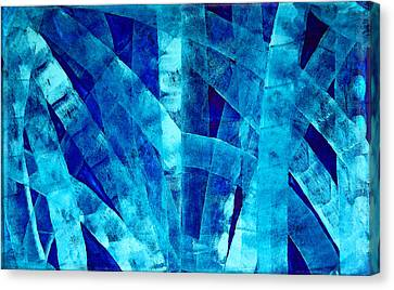 Blue Abstract Art - Paths - By Sharon Cummings Canvas Print by Sharon Cummings
