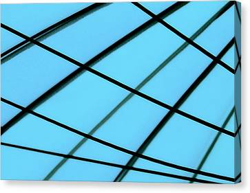 Blue Abstract Canvas Print by Tony Grider