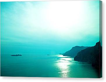 Blue Amalfi Sea Canvas Print by Susan  Schmitz