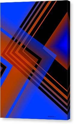 Blue And Brown Combination Canvas Print by Mario Perez