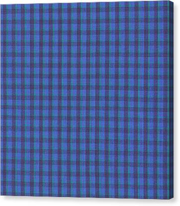 Blue And Green Checkered Pattern Fabric Background Canvas Print by Keith Webber Jr