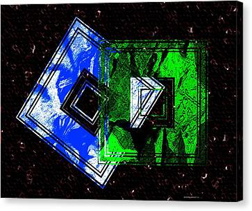 Blue And Green Combination Canvas Print by Mario Perez