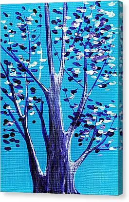 Blue And White Canvas Print by Anastasiya Malakhova