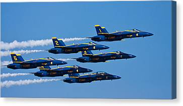 Blue Angels Canvas Print by Adam Romanowicz
