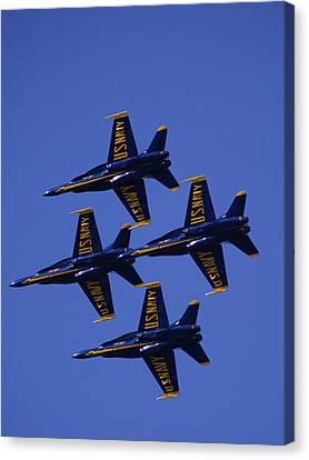 Blue Angels Canvas Print by Bill Gallagher