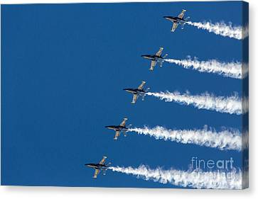 Blue Angels On Blue Canvas Print by John Daly