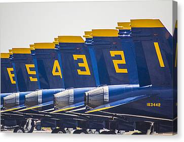 Blue Angels Wings Canvas Print by John McGraw